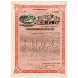 Kentucky Mineral and Timber Co., 1892 Issued Bond