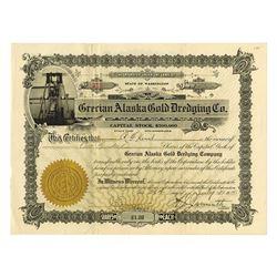Grecian Alaska Gold Dredging Co. 1913 Stock Certificate.