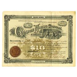 Gordon Mining Co., 1888, Issued Stock.