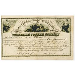 Dollyhide Copper Co., 1856 Issued Stock Certificate.