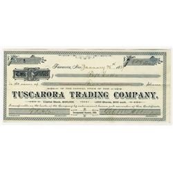 Tuscarora Trading Co., 1889, Issued Stock Certificate S/N 1.