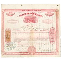 Mariposa Co., 1866 Issued Stock Certificate