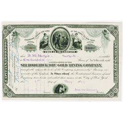 Sir Roderick DHU Gold Mining Co., 1879 Issued Stock Certificate