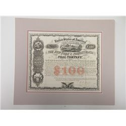 New-York & Pennsylvania Coal Company, 1857, $100 Bond