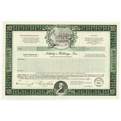 Sotheby's Holdings, Inc., 1980s Specimen Stock Certificate