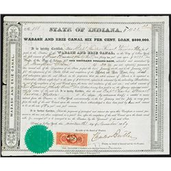 Wabash and Erie Canal, 1869 Issued Bond