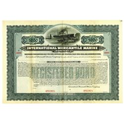International Mercantile Marine Co., 1902 Specimen $500 Bond Rarity.
