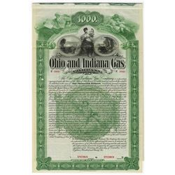 Ohio & Indiana Gas Co., 1896 Specimen Bond
