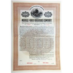 Mobile and Ohio Railroad Co., 1911 Specimen Bond