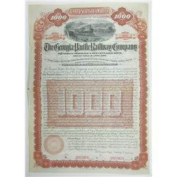 Georgia Pacific Railway Co.m Equipment Mortgage 6% Gold Bond, 1891 Specimen Bond
