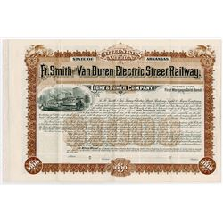 Ft. Smith and Van Buren Electric Street Railway Light & Power Co., 1894 Specimen Bond