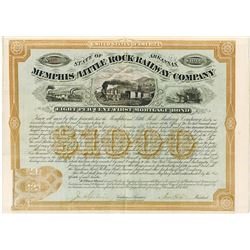 Memphis & Little Rock Railway Co., 1873 Issued Bond