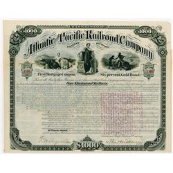 Atlantic and Pacific Railroad Co. Western Division, 1880 Issued Bond