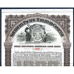 Southern Pacific Railroad Co., 1905 Specimen Bond.