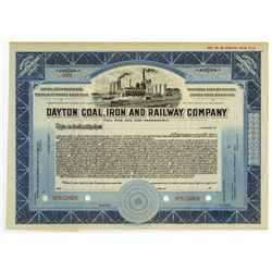 Dayton Coal, Iron and Railway Co., ca.1910-1930 Specimen Stock
