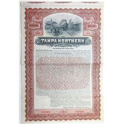 Tampa Northern Railroad Co., 1906 Specimen Bond