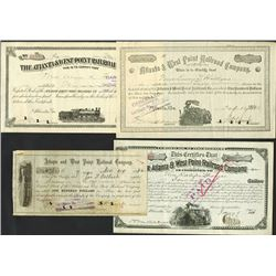 Atlanta & West Point Railroad Co. Group of Stock Certificates