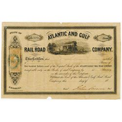 Atlantic and Gulf Rail Road Co., 1879 Stock Certificate