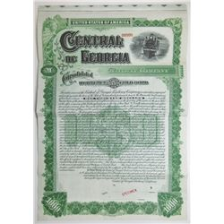 Central of Georgia Railway Co., 1895 Specimen Bond