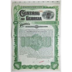 Central of Georgia Railway Co., 1895 Specimen Bond