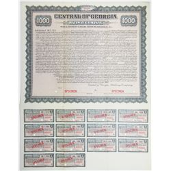 Central of Georgia Railway Company - Steamship Gold Bond Series A, 1903 Specimen Bond