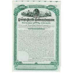 Georgia Pacific Railway Co., 1882 Issued Bond