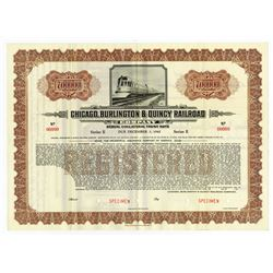 Chicago, Burlington and Quincy Railroad Co.,1937 Specimen Bond