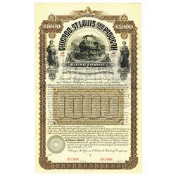 Chicago, St. Louis and Paducah Railway Co., 1887 Specimen Bond