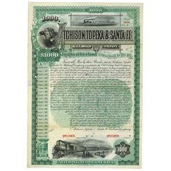 Atchison, Topeka & Santa Fe Railroad Co., 1890 Specimen Bond