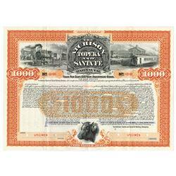 Atchison, Topeka & Santa Fe Railway Co., 1895 Specimen Bond