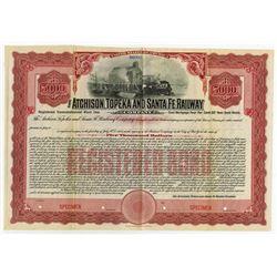 Atchison, Topeka & Santa Fe Railway Co., 1908 Specimen Bond