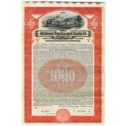 Atchison, Topeka & Santa Fe Railway Co., 1915 Specimen Bond