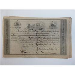 Baltimore & Ohio Railroad Co. 1851  Stock Certificate Grouping
