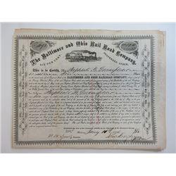 Baltimore & Ohio Railroad Co. 1876 6% Preferred Share Certificate Assortment.