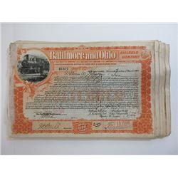Baltimore & Ohio Railroad Co. 1899 Share Certificate Group