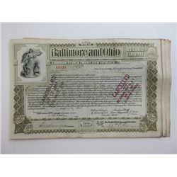 Baltimore & Ohio Railroad Co. ca.1900 Common Stock Trust Certificates Grouping