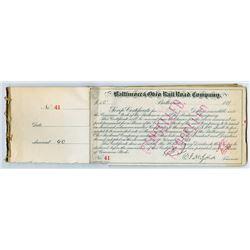 Group of 36 Baltimore & Ohio Railroad Script Certificates