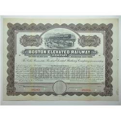 Boston Elevated Railway Co. 1923 Specimen Bond