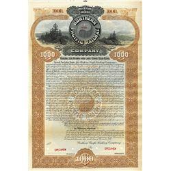 North Pacific Railway Co., 1896 Specimen Bond