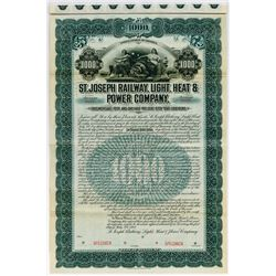 St. Joseph Railway, Light, Heat & Power Co., 1901 Specimen Bond