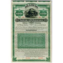 St. Louis, Salem and Arkansas Railway Co., 1887 Specimen Bond
