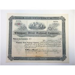 Whippany River Railroad Co., 1890s Stock Certificate