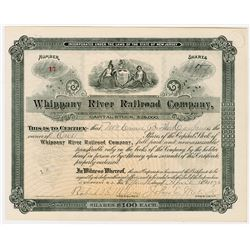Whippany River Railroad Co., 1896 Issued Stock Certificate
