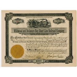 Wildwood and Delaware Bay Short Line Railroad Co., 1913 Stock Certificate