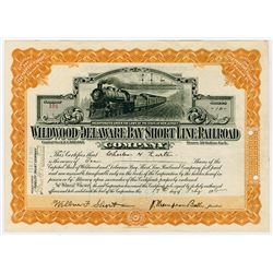 Wildwood and Delaware Short Line Railroad Co., 1915 Stock Certificate