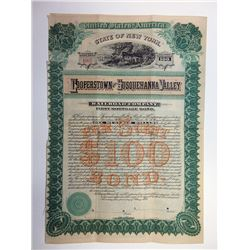 Cooperstown and Susquehanna Valley Railroad Co., 1888 Bond