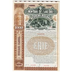 New York, Lake Erie and Western Railroad Co., 1894 Specimen bond.