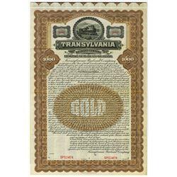 NC. Transylvania Railroad Co. 1906 Specimen Bond.