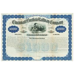 Cincinnati Northern Railway Co., 1881 Issued Bond
