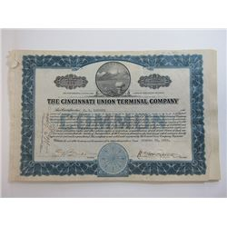 Cincinnati Union Terminal Co. 1929 Share Certificate Grouping